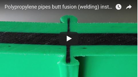 Polypropylene pipes butt fusion (welding) instruction manual